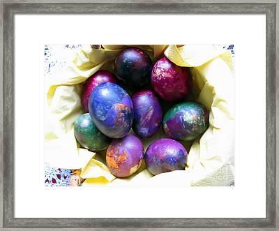 Easter Eggs 01 Framed Print by Ausra Huntington nee Paulauskaite