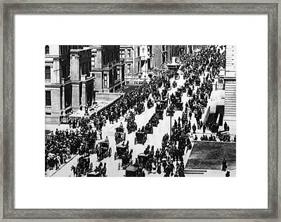 Easter Parade On Fifth Avenue, New York Framed Print by Everett