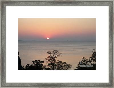 Easter Sunrise In Yorktown Framed Print by Marilyn West