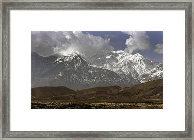 Eastern Afghanistans White Mountains Framed Print by Everett