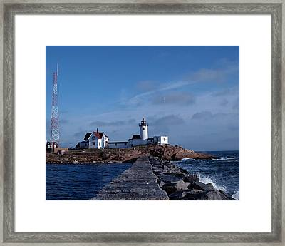 Eastern Point Light Framed Print by Mike Martin