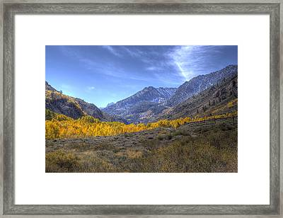 Framed Print featuring the photograph Eastern Sierras In Fall by Michele Cornelius