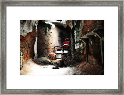 Eastern State Penitentiary - Barber's Chair Framed Print by Bill Cannon