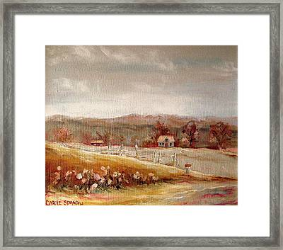 Eastern Townships Quebec Painting Framed Print by Carole Spandau