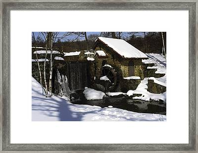 Eastern University Waterwheel Historic Place Framed Print