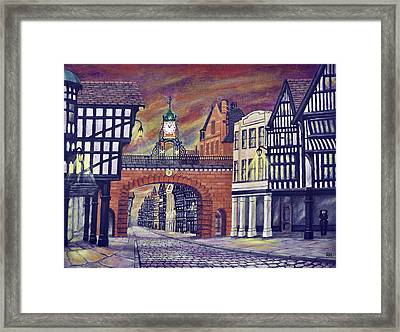 Eastgate Clock - Chester Framed Print by Ronald Haber