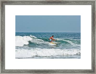 Easy Surfing  Framed Print by Ann Murphy