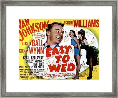 Easy To Wed, Van Johnson, Esther Framed Print by Everett