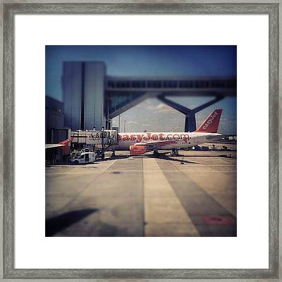 #easyjet #gatwick #airplane #airport Framed Print by Abdelrahman Alawwad