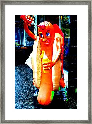 Eat Dog Framed Print by Randall Weidner