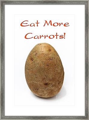 Eat More Carrots Framed Print