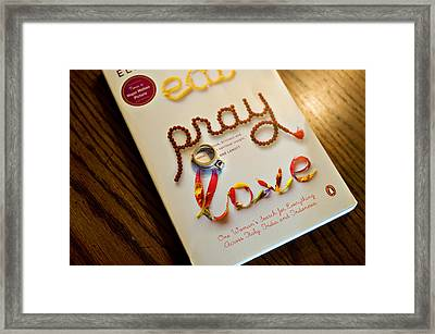 Eat Pray Love Framed Print by Malania Hammer