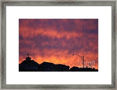 Eat The Sky Framed Print by Kerryn Davis