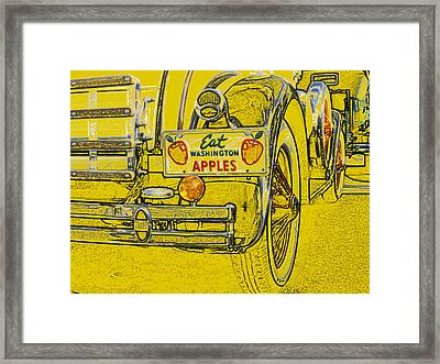 Eat Washington Apples Framed Print by Anne Mott