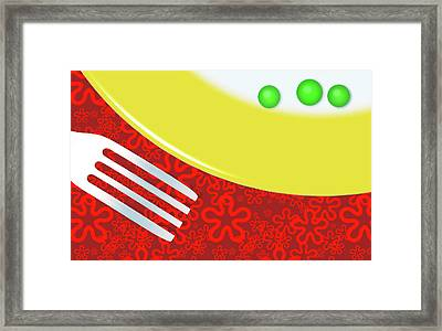 Eat Your Peas Framed Print by Richard Rizzo