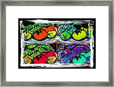 Eat Your Veggies Framed Print by Mindy Newman