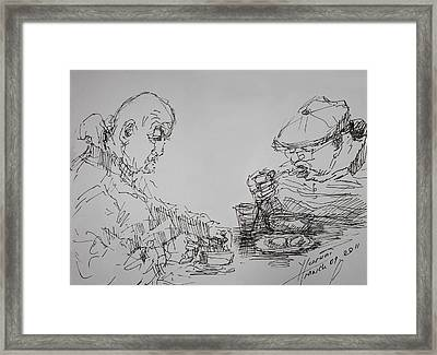 Eaters Framed Print by Ylli Haruni