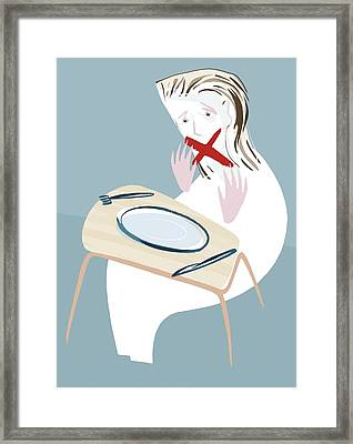 Eating Disorder, Conceptual Artwork Framed Print by Paul Brown