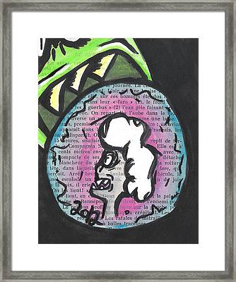 Eating Money Framed Print by Jera Sky
