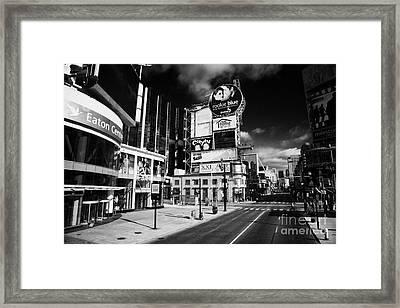 Eaton Centre At The Intersection Of Yonge And Dundas At Yonge-dundas Square Toronto Ontario Framed Print
