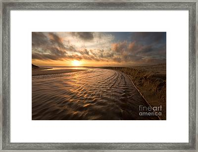 Ebb And Flow Framed Print by Matt Tilghman