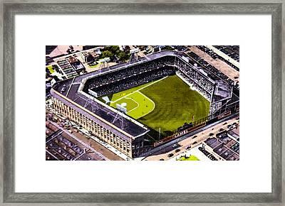 Ebbets Field In Brooklyn N Y In 1930 Framed Print by Dwight Goss