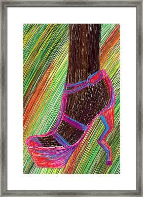 Ebony In High Heels Framed Print by Kenal Louis