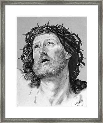 Ecce Homo Framed Print by Miguel Rodriguez
