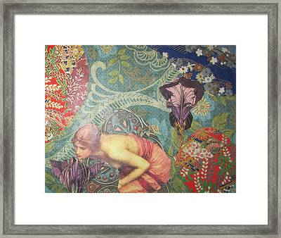 Echo In The Wildwood Framed Print by Kanchan Mahon