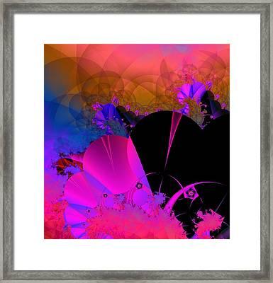 Framed Print featuring the digital art Echos by Ann Peck