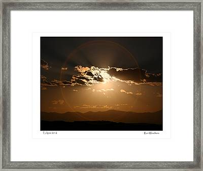 Eclipse 2012 Framed Print
