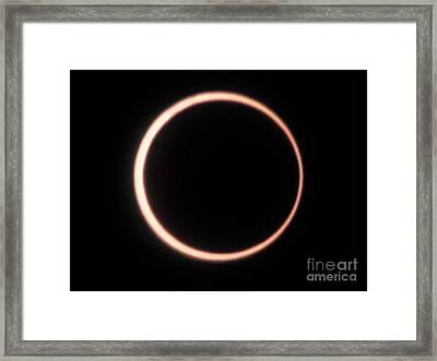 Eclipse 2012 Framed Print