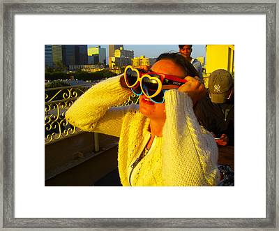 Eclipse Party 2 Framed Print by Kathryn Donatelli