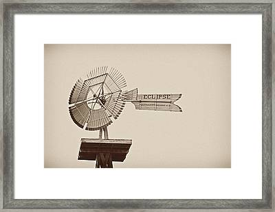 Eclipse Windmill 3578 Framed Print by Michael Peychich