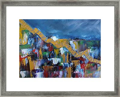 Framed Print featuring the painting Economic Meltdown by Judith Rhue