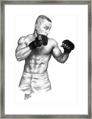 Eddie Alvarez - Bellator Champion Framed Print by Audrey Snead
