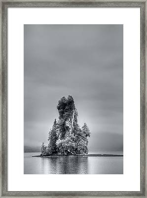 Eddystone Rock Misty Fjords National Monument Alaska Framed Print by Julie VanDore