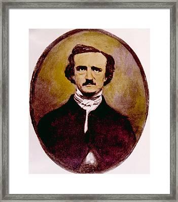 Edgar Allan Poe 1809-1849 Framed Print