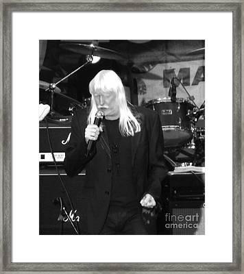 Framed Print featuring the photograph Edgar Winter by Gary Brandes
