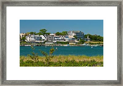 Edgartown Harbor Marthas Vineyard Massachusetts Framed Print