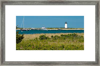 Edgartown Lighthouse Marthas Vineyard Massachusetts Framed Print by Michelle Wiarda