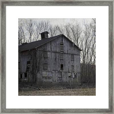 Edge Of Evening Shabby Old Barn Framed Print by John Stephens
