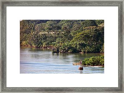 Edge Of Panama Canal Framed Print by Linda Phelps