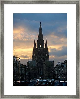 Framed Print featuring the photograph Edinburgh Cathedral by Rod Jones
