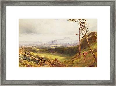 Edinburgh From Corstorphine  Framed Print by John MacWhirter