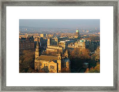Edinburgh On A Winter's Day Framed Print by Christine Till