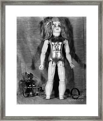 Edison: Talking Doll, C1890 Framed Print by Granger
