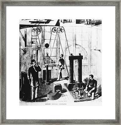 Edisons Electric Generator Framed Print by Omikron