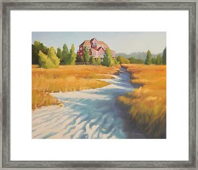 Edisto Beach House Framed Print by Todd Baxter