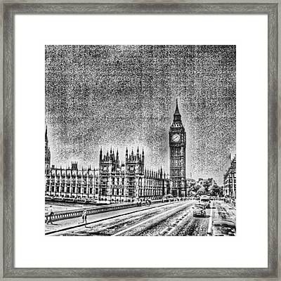 Edit Of The Day, #editeoftheday #london Framed Print